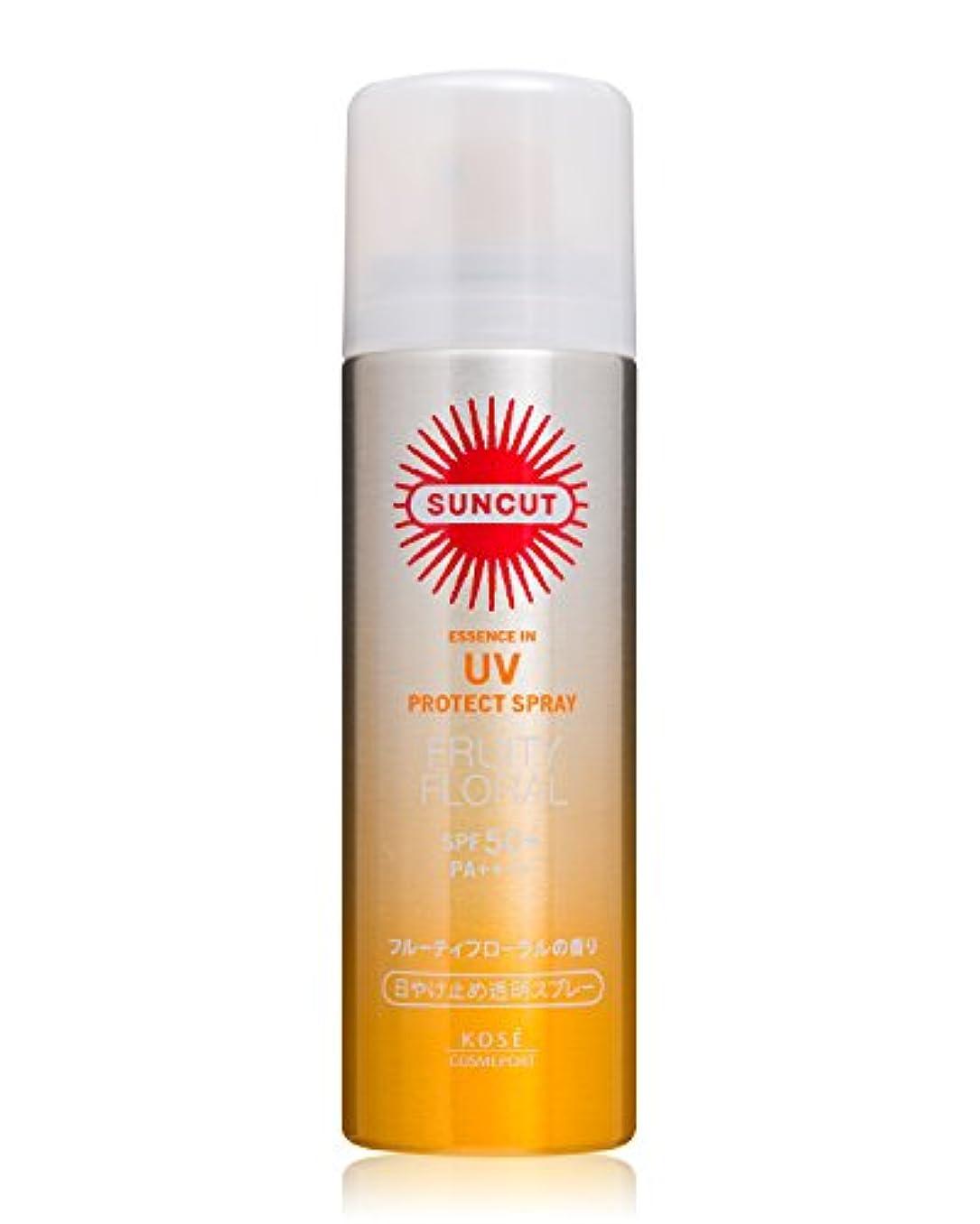 広告するソブリケットマーカーKOSE コーセー サンカット 日焼け止め 透明 スプレー フルーティ フローラル 50g SPF50+ PA++++