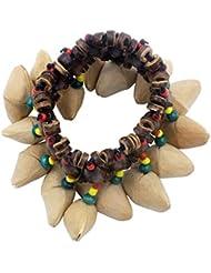 Dora Nutshell African Drum Hand Bell Drum Musical Instrument Bell Accessories-Wood Color