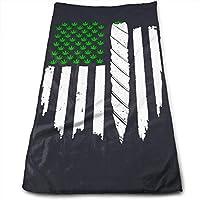 マリファナグラスアメリカ国旗タオル11.8 x 27.5インチ