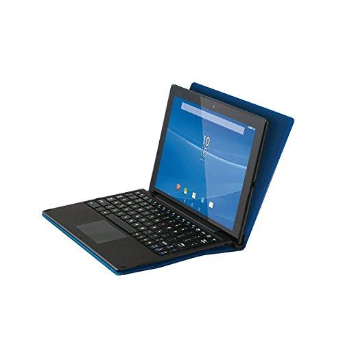 『【2015年モデル】ELECOM SONY Xperia Z4 Tablet フラップケース イタリアンソフトレザー素材レザー キーボード同時収納対応 ブルー TBM-SOZ4AWDTKBU』の5枚目の画像
