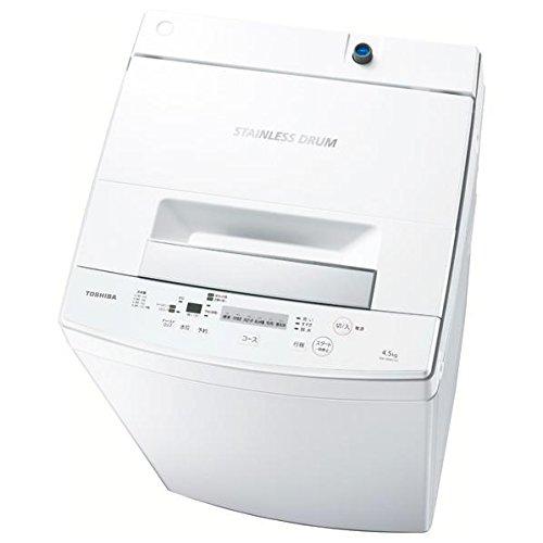 東芝 4.5kg 全自動洗濯機 ピュアホワイトTOSHIBA AW-45M5-W