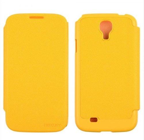 GALAXY S4 レザーフリップケース (docomo GALAXY S4 SC-04E / Samsung Galaxy S IV 対応 By Mercury) GOOSPERY FANCY Flip Style (ワンセグ対応/ICカード収納/画面保護フラップ ) Yellow(黄色)