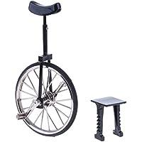 KOZEEY 1:10 ミニチュア 合金製 ダイキャスト バイク サイクル 自転車 一輪車モデル スタンド付き