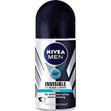 NIVEA MEN Deodorant Black And White Fresh Roll-On, 50ml