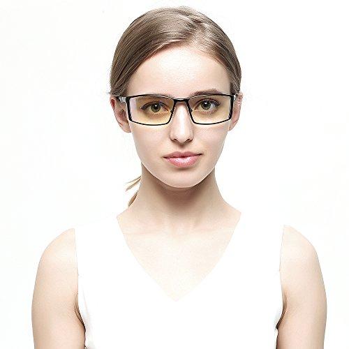 パソコン用 PC用 90%ブルーライトカット メガネ おしゃれ 度なし 超軽量 男女兼用 眼精疲労低減 2018新品