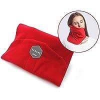洗える枕ネックピロー トラベルアクセサリーU字型携帯枕 飛行機 新幹線 旅行用 仮眠 (レッド)