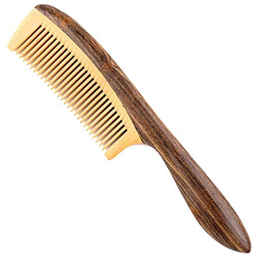 反響する曲オッズFine Tooth Wooden Comb [Gift Box] -LilyComb No Static Wood Hair Comb with Handle for Curly and Straight Hair -...