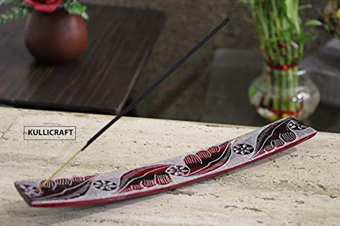 KC Kullicraft Soapstone Handcrafted Agarbatti Stands with Ash Catcher with 6 Incense Sticks Free Chandan Fragrance...