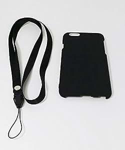 BRIGHTONNET iPhone6用 ラバーコーティングケース ネックストラップ付 (4.7) BI-IP6/BK(ブラック)