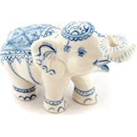 3 D Ceramic Toy Blue Elephant Incense 1 Dollhouse Miniatures Free Ship by ChangThai Design [並行輸入品]