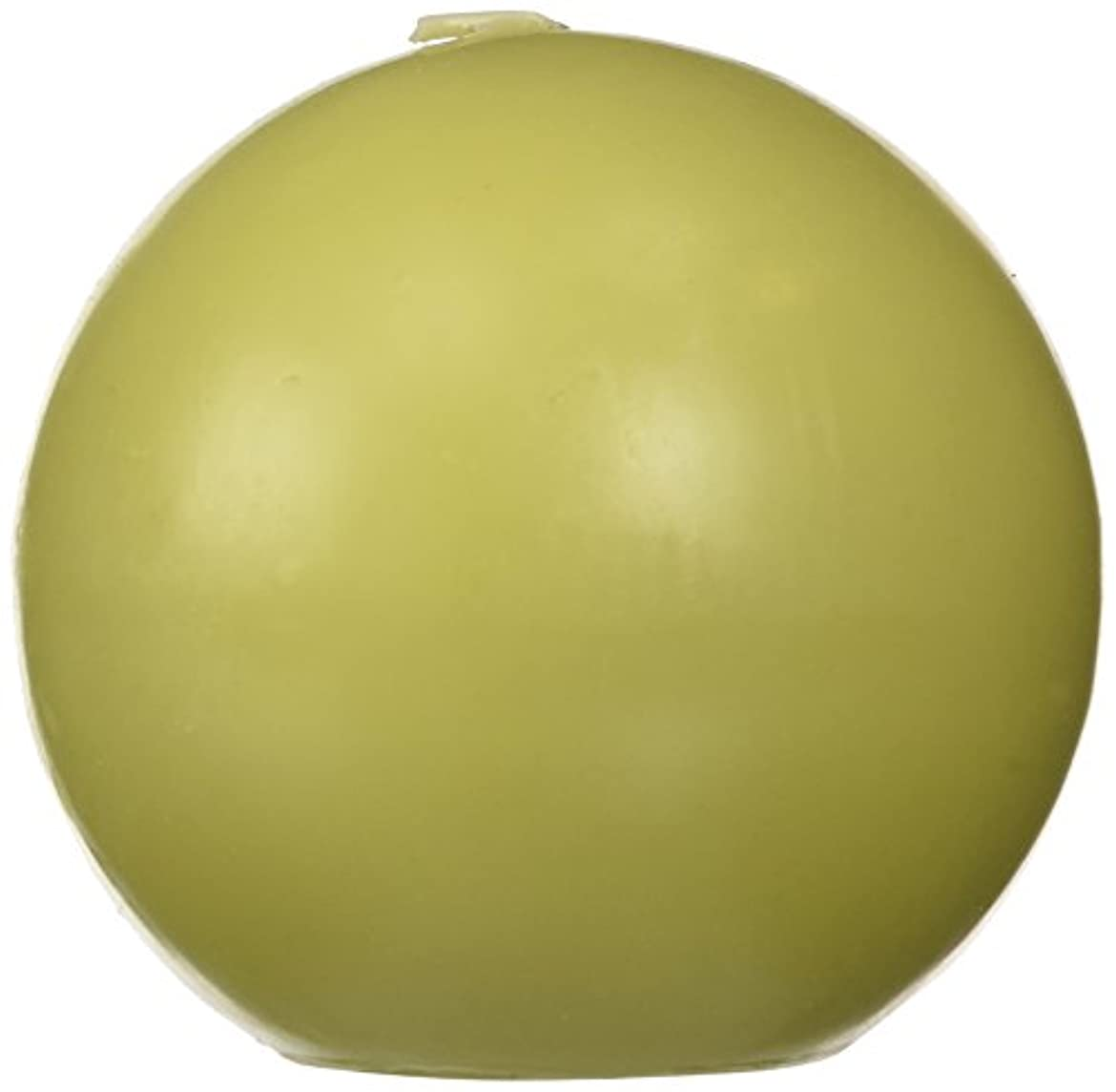 いじめっ子夫婦音声学Zest Candle CBZ-032 4 in. Sage Green Ball Candles -2pc-Box
