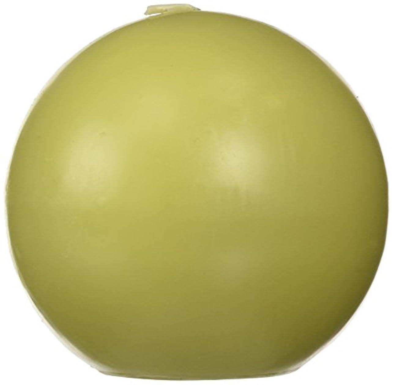 国歌ビジネス情緒的Zest Candle CBZ-032 4 in. Sage Green Ball Candles -2pc-Box
