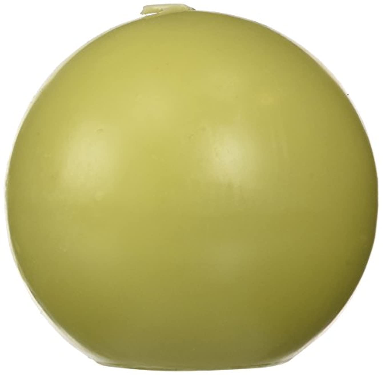 負荷苦い別々にZest Candle CBZ-032 4 in. Sage Green Ball Candles -2pc-Box