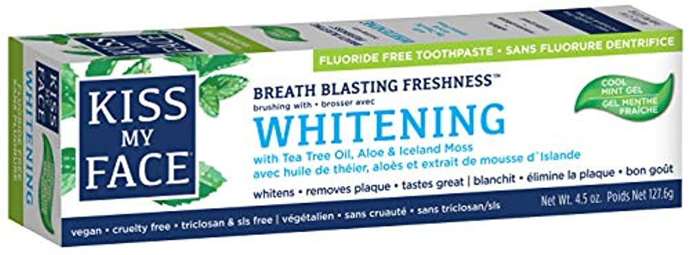 報酬の特別なホテル海外直送品Kiss My Face Whitening with Anticavity Fluoride Toothpaste, 4.5 oz