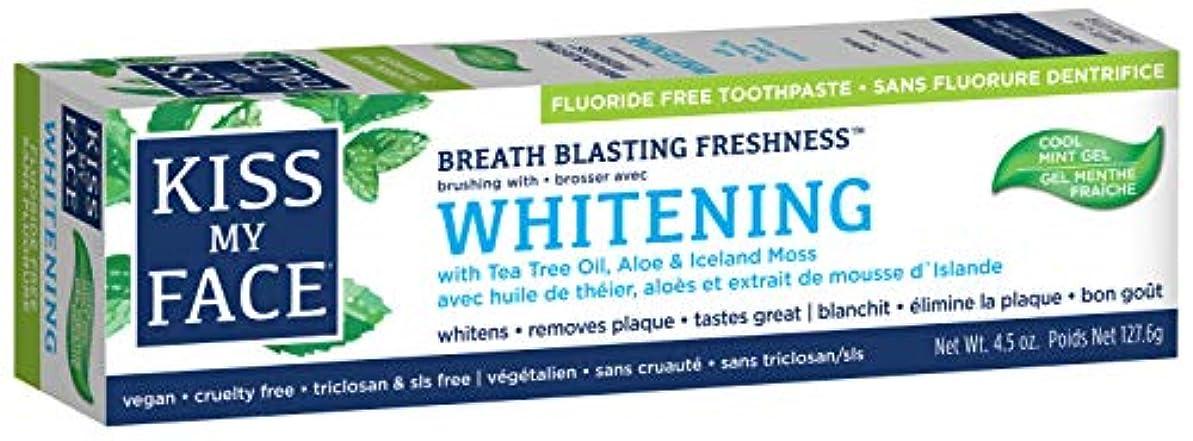 側不和変装海外直送品Kiss My Face Whitening with Anticavity Fluoride Toothpaste, 4.5 oz