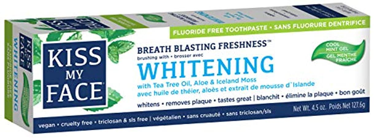 わずかにパイプしたい海外直送品Kiss My Face Whitening with Anticavity Fluoride Toothpaste, 4.5 oz