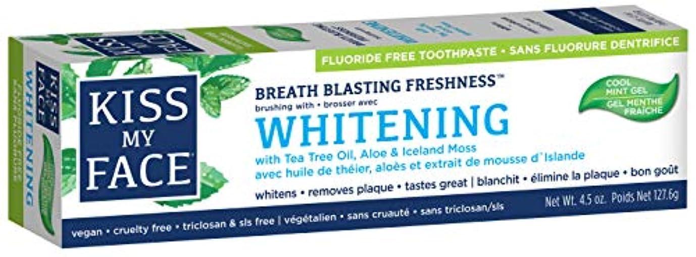 出席孤独バングラデシュ海外直送品Kiss My Face Whitening with Anticavity Fluoride Toothpaste, 4.5 oz