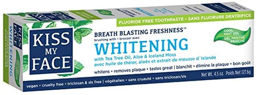 科学的ミシン目コンテスト海外直送品Kiss My Face Whitening with Anticavity Fluoride Toothpaste, 4.5 oz