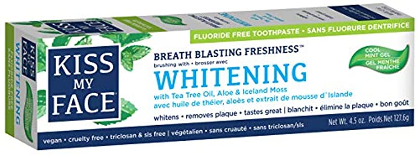 戦う絶対のずっと海外直送品Kiss My Face Whitening with Anticavity Fluoride Toothpaste, 4.5 oz