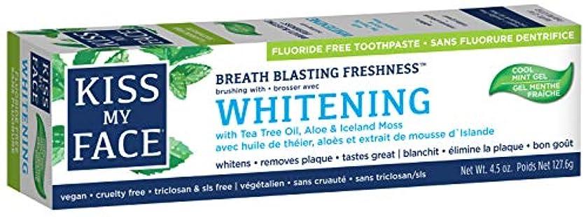 肺昇進分析的海外直送品Kiss My Face Whitening with Anticavity Fluoride Toothpaste, 4.5 oz