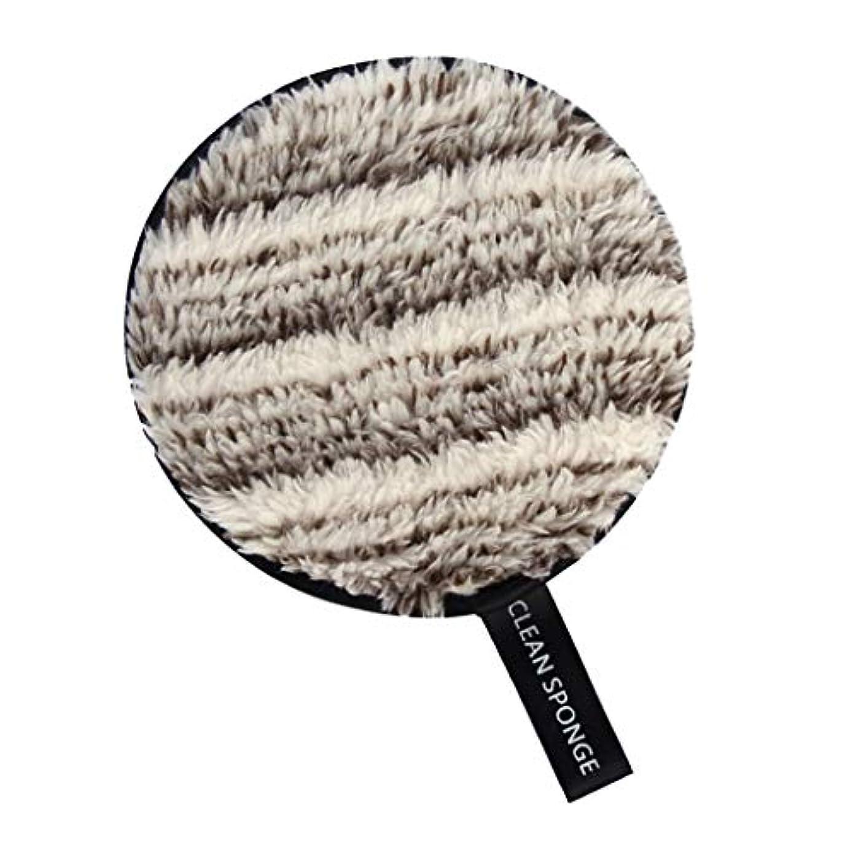 モスアクティビティ版SM SunniMix メイク落としパッド フェイススポンジ 化粧スポンジ 全6色 - 白+褐色