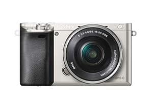 SONY ミラーレス一眼 α6000 パワーズームレンズキット E PZ 16-50mm F3.5-5.6 OSS付属 シルバー ILCE-6000L-S