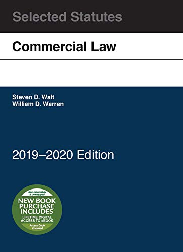 Download Commercial Law, Selected Statutes, 2019-2020 1642429236