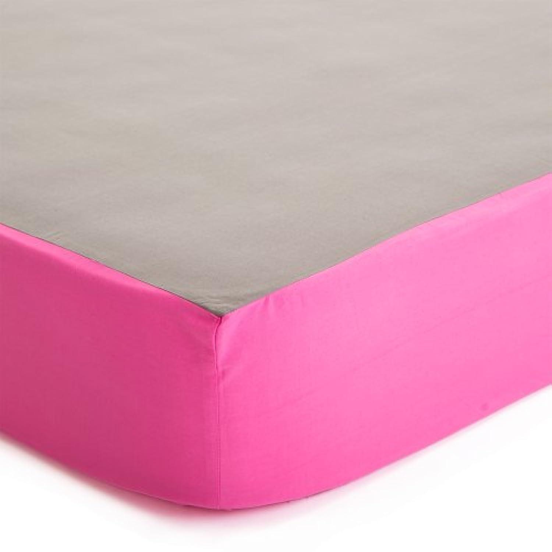 Baby Deedee Fitted Crib Sheet, Slate/Hot Pink by baby deedee