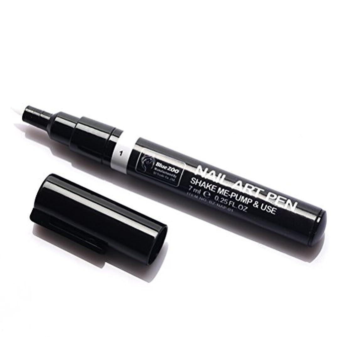 スプリットセメント比類なき(メイクアップエーシーシー) MakeupAcc カラーネイルアートペン 3Dネイルペン ネイルアートペン ネイルマニキュア液 ペイントペン ペイント 両用 DIY 16色 (白い) [並行輸入品]
