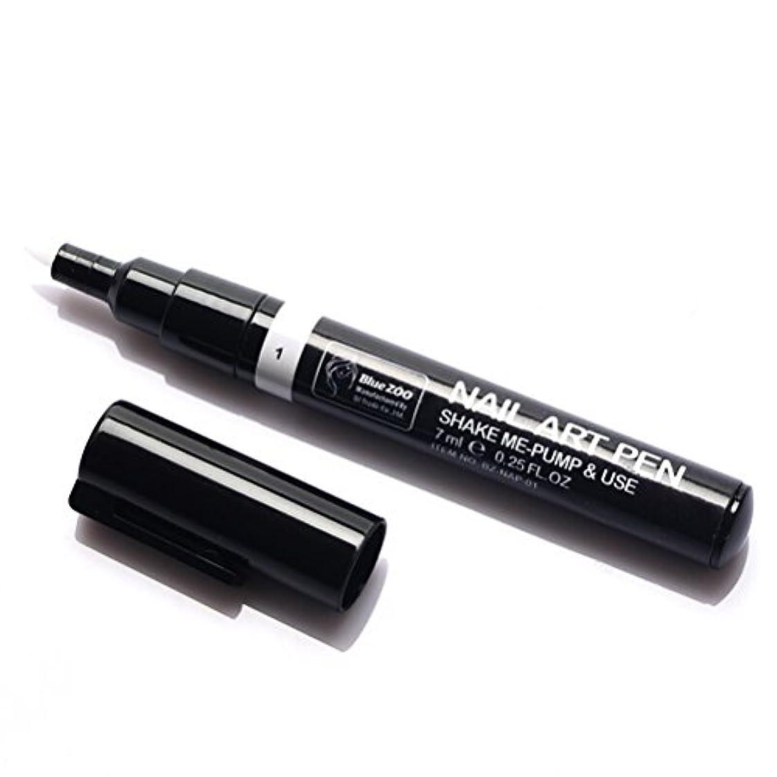 令状富豪代表団(メイクアップエーシーシー) MakeupAcc カラーネイルアートペン 3Dネイルペン ネイルアートペン ネイルマニキュア液 ペイントペン ペイント 両用 DIY 16色 (白い) [並行輸入品]