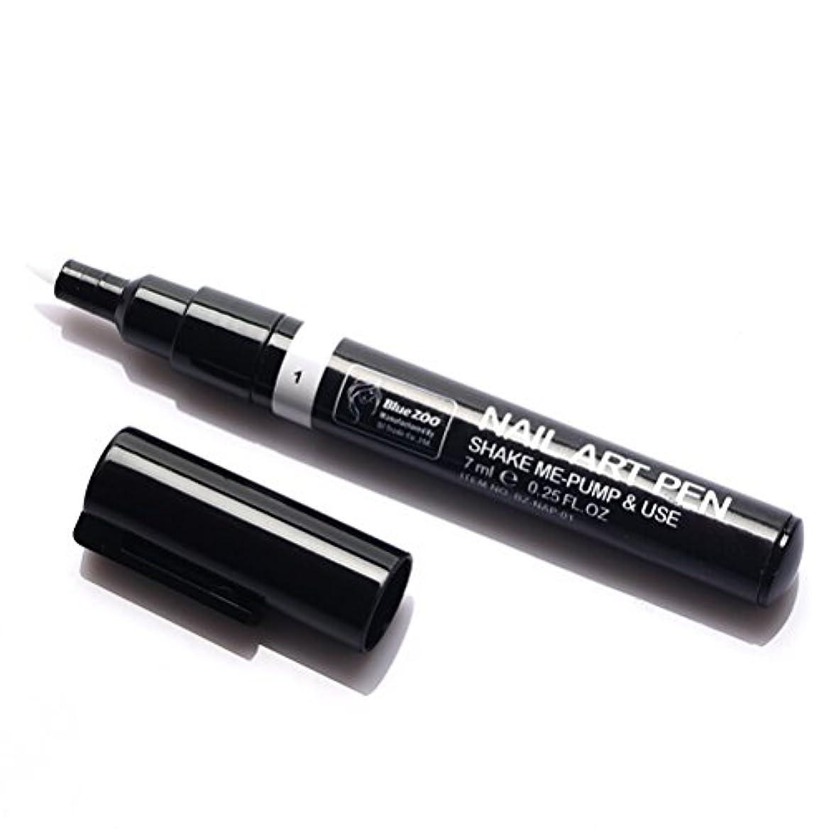 豊富なケージ戸惑う(メイクアップエーシーシー) MakeupAcc カラーネイルアートペン 3Dネイルペン ネイルアートペン ネイルマニキュア液 ペイントペン ペイント 両用 DIY 16色 (白い) [並行輸入品]