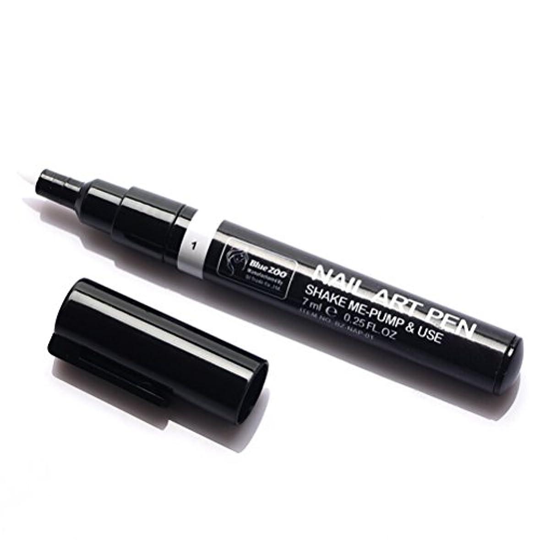 看板技術者最大限(メイクアップエーシーシー) MakeupAcc カラーネイルアートペン 3Dネイルペン ネイルアートペン ネイルマニキュア液 ペイントペン ペイント 両用 DIY 16色 (白い) [並行輸入品]