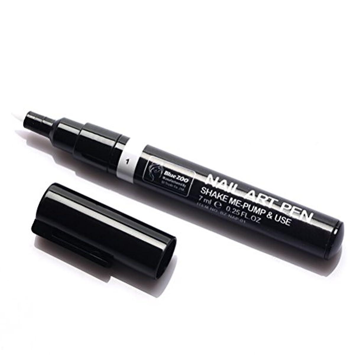 ランチョン印象的なリフレッシュ(メイクアップエーシーシー) MakeupAcc カラーネイルアートペン 3Dネイルペン ネイルアートペン ネイルマニキュア液 ペイントペン ペイント 両用 DIY 16色 (白い) [並行輸入品]