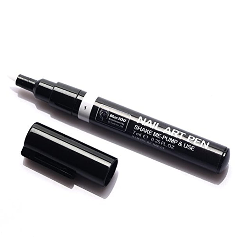 バレルうなるリングバック(メイクアップエーシーシー) MakeupAcc カラーネイルアートペン 3Dネイルペン ネイルアートペン ネイルマニキュア液 ペイントペン ペイント 両用 DIY 16色 (白い) [並行輸入品]
