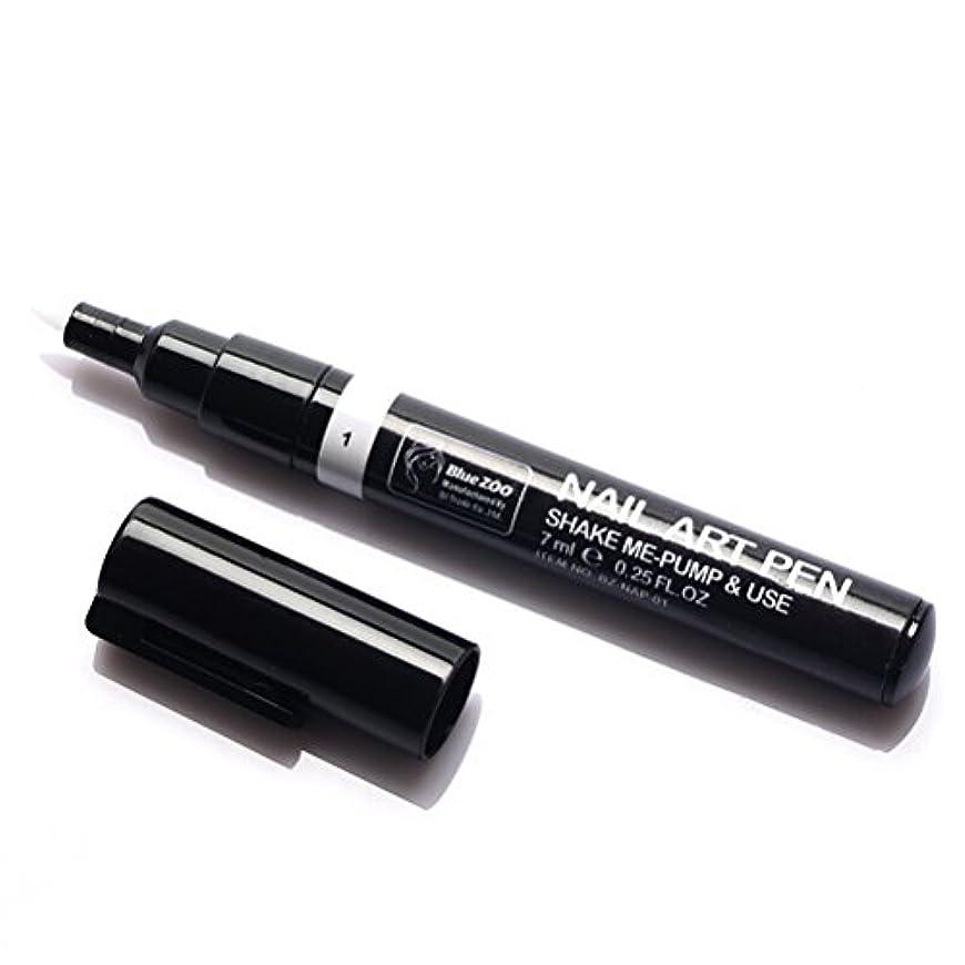胚タックルエコー(メイクアップエーシーシー) MakeupAcc カラーネイルアートペン 3Dネイルペン ネイルアートペン ネイルマニキュア液 ペイントペン ペイント 両用 DIY 16色 (白い) [並行輸入品]