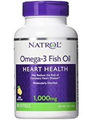 海外直送品Natrol (incl Laci Le Beau Teas) Omega-3 Fish Oil, 90 Softgels 1000 mg