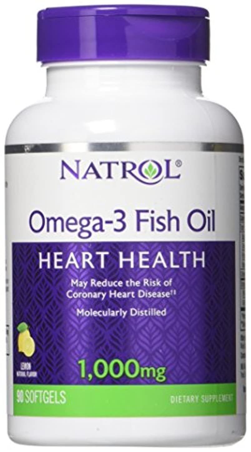 サンダー歯科医少なくとも海外直送品Natrol (incl Laci Le Beau Teas) Omega-3 Fish Oil, 90 Softgels 1000 mg