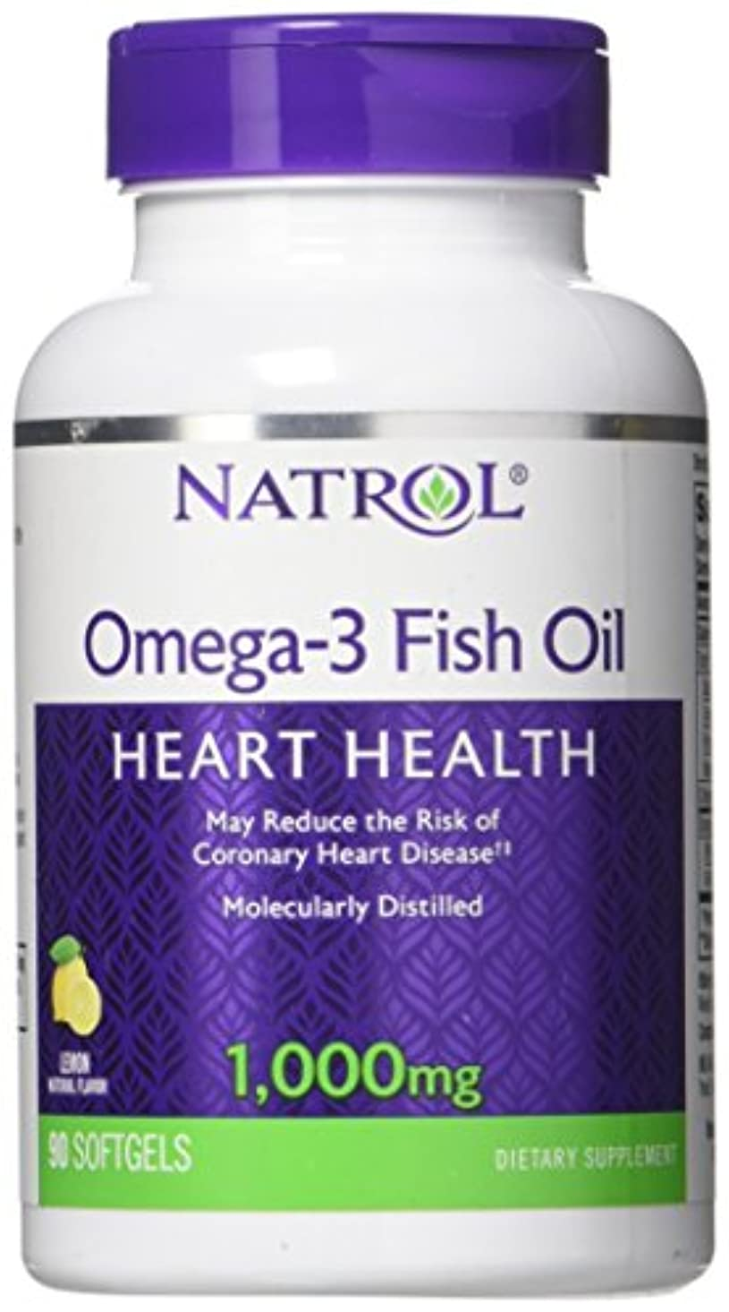 凍結ジュニアステレオ海外直送品Natrol (incl Laci Le Beau Teas) Omega-3 Fish Oil, 90 Softgels 1000 mg