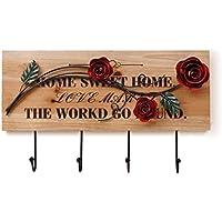 Zhijie フロート/ウォールソリッド木製装飾フック/錬鉄壁ハンガー/コートラック/クリエイティブメタルコートフック