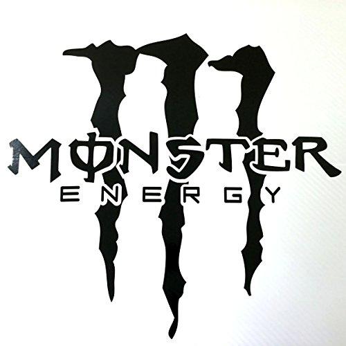 【大サイズ40×40cm(黒)】 MONSTER ENERGY モンスターエナジー 車・バイク用 爪柄 大型 ステッカー / デカール 貼付説明書付 (ブラック)