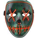 Halloween Mask Light Up Party The Purge Election Year Luminous Mask EL Wire Horror