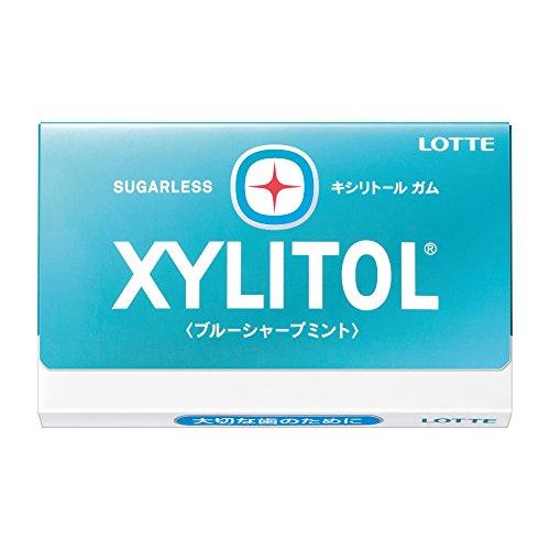 ロッテ キシリトールガム<ブルーシャープミント> 12枚×10個