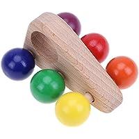 Kids Toy、amazingdealベビー木製Grasping Toyプッシュプル車木製DevelopmentalトイGifts