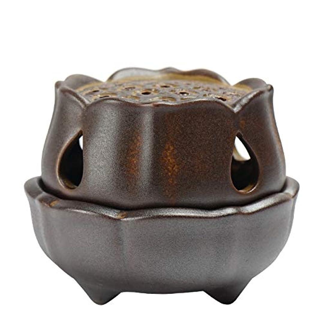 吐き出すハンカチ段階仏の香のアロマセラピー炉9.5 * 8 * 7.3cmのための滝の背部香の棒家族の芳香バーナーの還流の蝋燭の棒の陶磁器