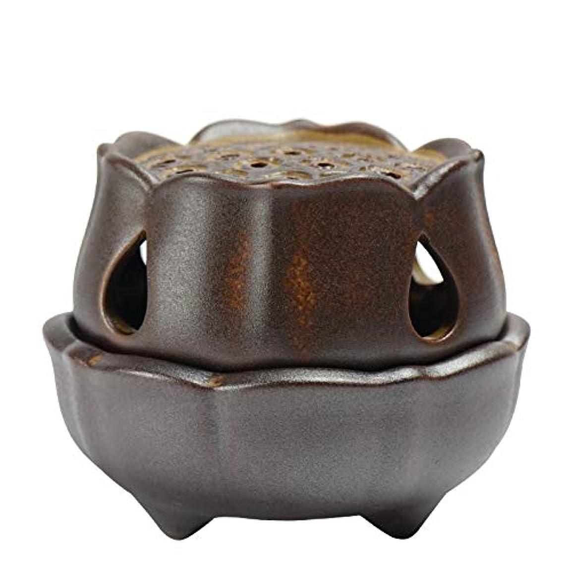 タオル渇き汚染仏の香のアロマセラピー炉9.5 * 8 * 7.3cmのための滝の背部香の棒家族の芳香バーナーの還流の蝋燭の棒の陶磁器