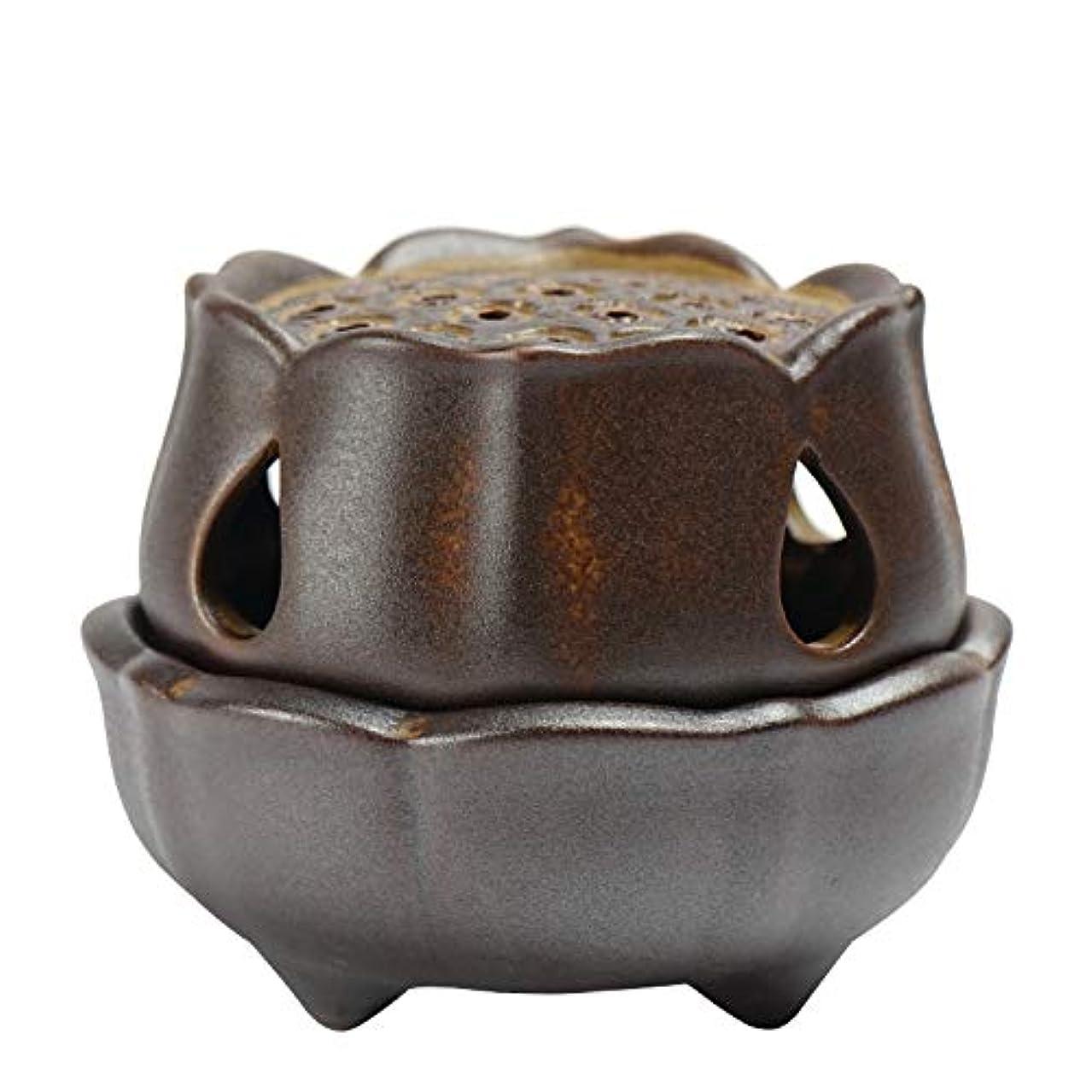 行商人したいトレイル仏の香のアロマセラピー炉9.5 * 8 * 7.3cmのための滝の背部香の棒家族の芳香バーナーの還流の蝋燭の棒の陶磁器