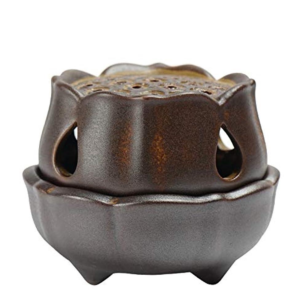 仏の香のアロマセラピー炉9.5 * 8 * 7.3cmのための滝の背部香の棒家族の芳香バーナーの還流の蝋燭の棒の陶磁器