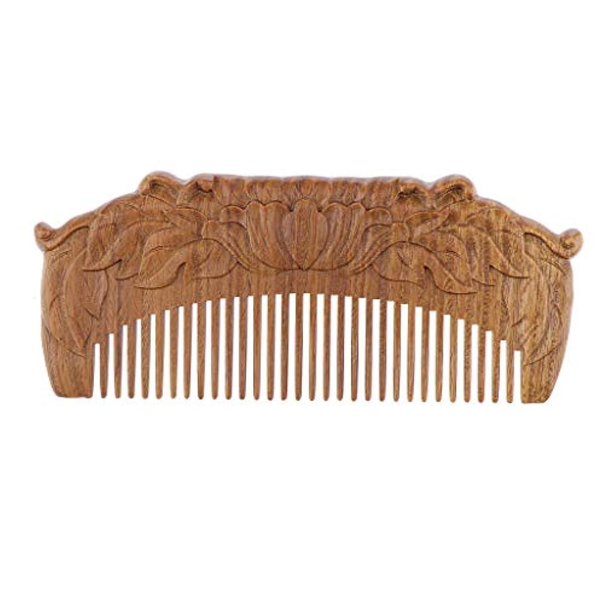 破壊する破壊的なダニ木製櫛 ヘアコーム ヘアブラシ 天然木 手作り プレゼント
