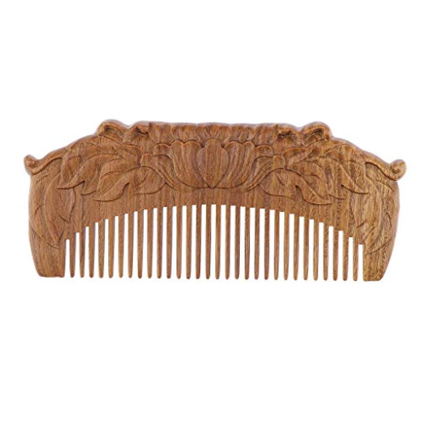 アフリカ黙遺産B Blesiya 木製櫛 ヘアコーム ヘアブラシ 天然木 手作り プレゼント
