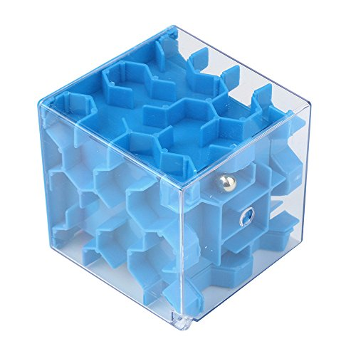 3dキューブ迷路パズル–の解決のデポジットのパズルを取得するお金迷路銀行–Xander Challenge Game ( A ,ブルー)